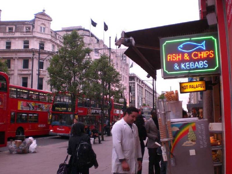 London nur mit Fish and Chips